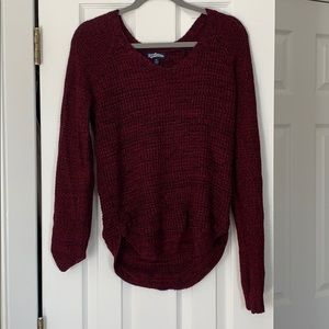 Macy's Burgundy knit sweater